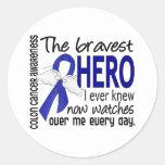 Bravest Hero I Ever Knew Colon Cancer Stickers