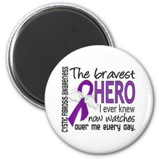 Bravest Hero I Ever Knew Cystic Fibrosis 6 Cm Round Magnet