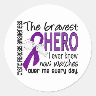 Bravest Hero I Ever Knew Cystic Fibrosis Classic Round Sticker