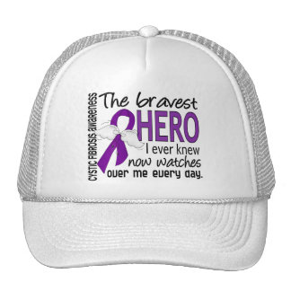 Bravest Hero I Ever Knew Cystic Fibrosis Mesh Hats