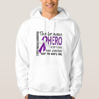 Bravest Hero I Ever Knew Cystic Fibrosis Hooded Sweatshirt