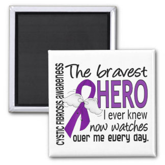 Bravest Hero I Ever Knew Cystic Fibrosis Fridge Magnets