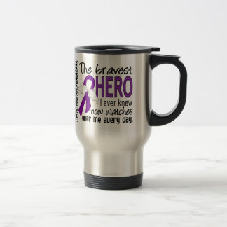 Bravest Hero I Ever Knew Cystic Fibrosis Stainless Steel Travel Mug