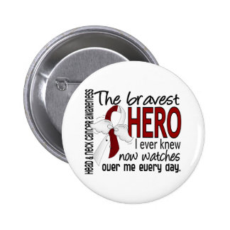 Bravest Hero I Ever Knew Head and Neck Cancer 6 Cm Round Badge
