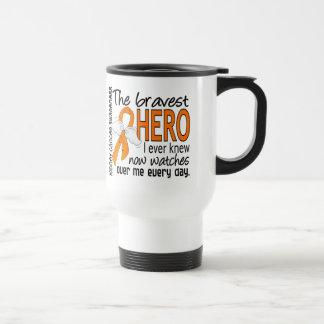 Bravest Hero I Ever Knew Kidney Cancer Travel Mug