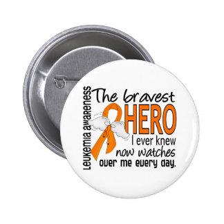 Bravest Hero I Ever Knew Leukemia 6 Cm Round Badge