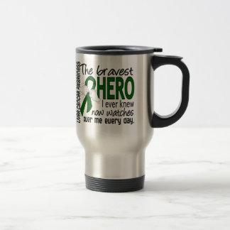 Bravest Hero I Ever Knew Liver Cancer Travel Mug