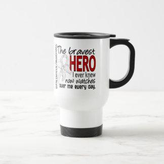 Bravest Hero I Ever Knew Lung Cancer Coffee Mug