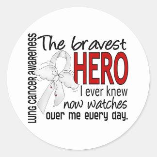 Bravest Hero I Ever Knew Lung Cancer Sticker