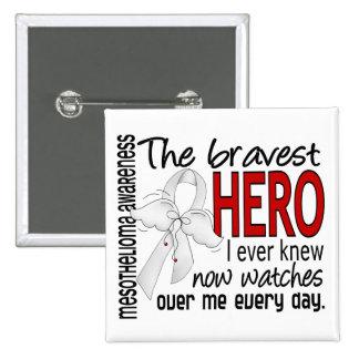 Bravest Hero I Ever Knew Mesothelioma 15 Cm Square Badge