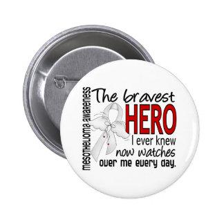 Bravest Hero I Ever Knew Mesothelioma 6 Cm Round Badge