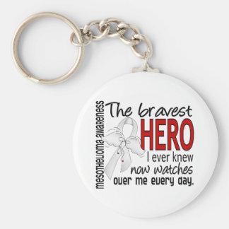 Bravest Hero I Ever Knew Mesothelioma Basic Round Button Key Ring