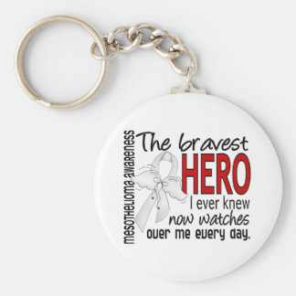 Bravest Hero I Ever Knew Mesothelioma Key Ring