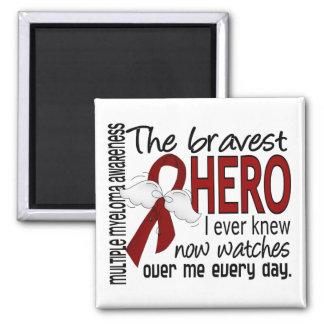 Bravest Hero I Ever Knew Multiple Myeloma Square Magnet