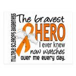 Bravest Hero I Ever Knew Multiple Sclerosis Postcard
