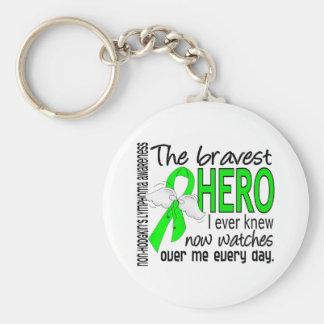 Bravest Hero I Ever Knew Non-Hodgkin's Lymphoma Basic Round Button Key Ring
