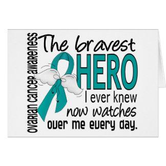 Bravest Hero I Ever Knew Ovarian Cancer Greeting Card