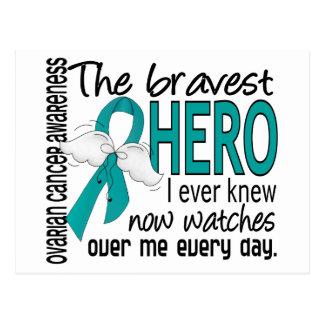 Bravest Hero I Ever Knew Ovarian Cancer Postcard