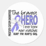 Bravest Hero I Ever Knew Prostate Cancer Round Sticker