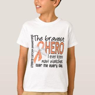 Bravest Hero I Ever Knew Uterine Cancer T-Shirt