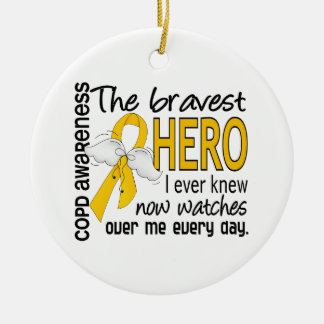 Bravest Hero I Knew COPD Christmas Ornament