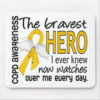 Bravest Hero I Knew COPD Mousepads