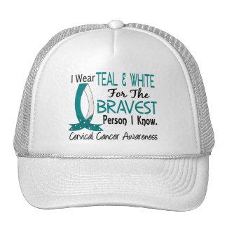 Bravest Person I Know Cervical Cancer Trucker Hat