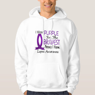 Bravest Person I Know Lupus Hooded Pullovers