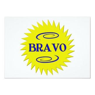 Bravo! 13 Cm X 18 Cm Invitation Card