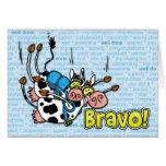 bravo - skydive tandem greeting card
