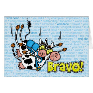 bravo - skydive tandem greeting card