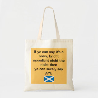 Braw Bricht Scottish Independence Tote Bag