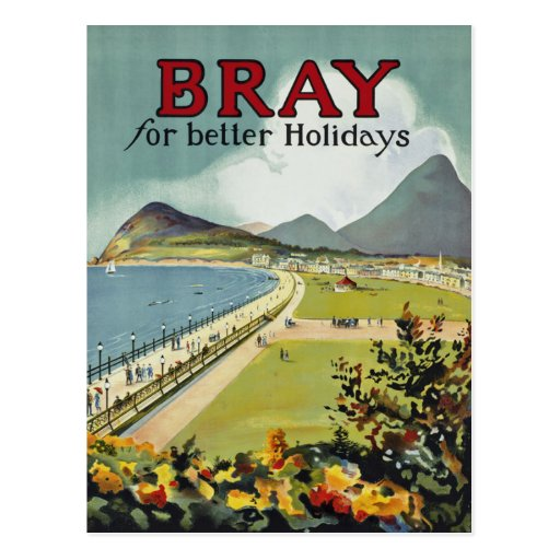 Bray ~ for better holidays postcard