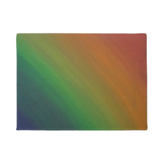 Brazen Abstract Colorful Rainbow Pride Flag Doormat