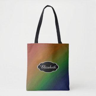Brazen Monogram Rainbow LGBT Pride Flag Tote Bag
