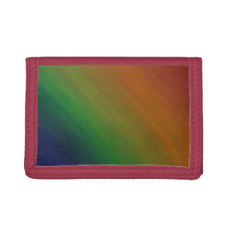 Brazen Style | Colorful Ombre Rainbow Abstract | Tri-fold Wallet