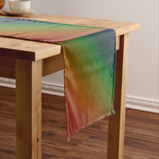 Brazen Table | Colorful Ombre Rainbow Abstract | Medium Table Runner