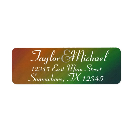 Brazen Wedding | Ombre Rainbow Colourful Address