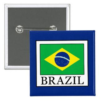 Brazil 15 Cm Square Badge