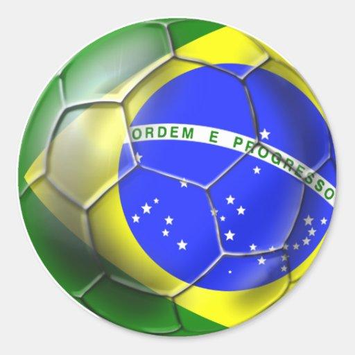 Brazil 2014 Brasil football Brazilian flag sports Stickers