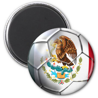 Brazil 2014 Mexico el Tri soccer ball Mexican flag 6 Cm Round Magnet
