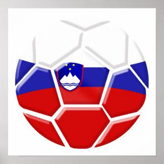 Brazil 2014 World cup Soccer Slovenian flag Slovak Poster