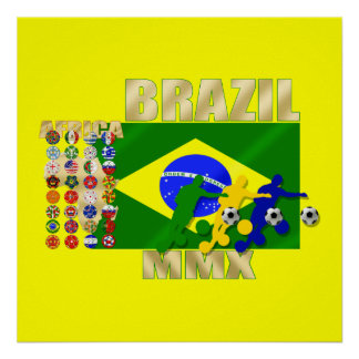 Brazil 32 Country Qualifying 2010 soccer gifts Poster