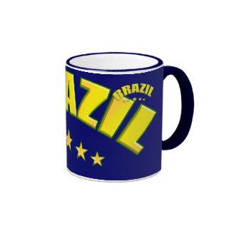 Brazil 5 star world champions coffee cup coffee mug