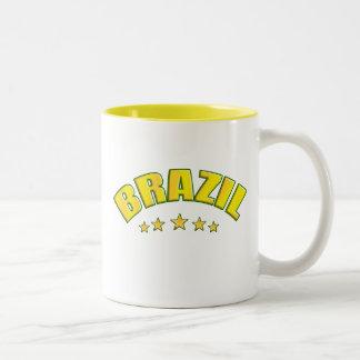 Brazil 5 star world champions coffee mug