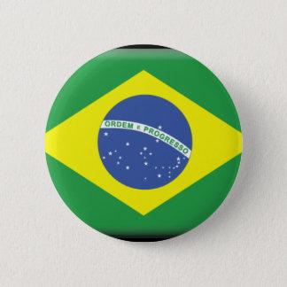 Brazil 6 Cm Round Badge