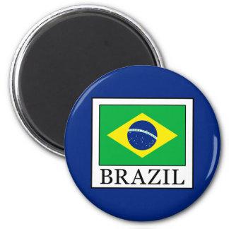 Brazil 6 Cm Round Magnet