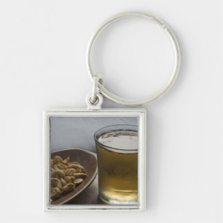 Brazil. A Glass of refreshing Guarana Energy Silver-Colored Square Key Ring