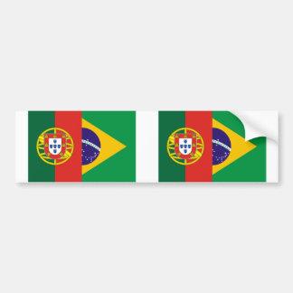Brazil And Portugal, hybrids Bumper Sticker