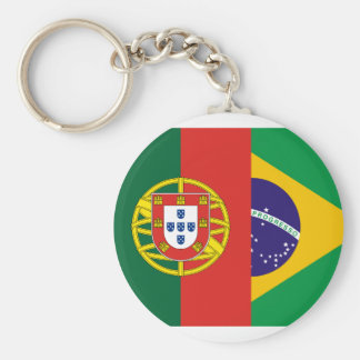 Brazil And Portugal, hybrids Key Ring